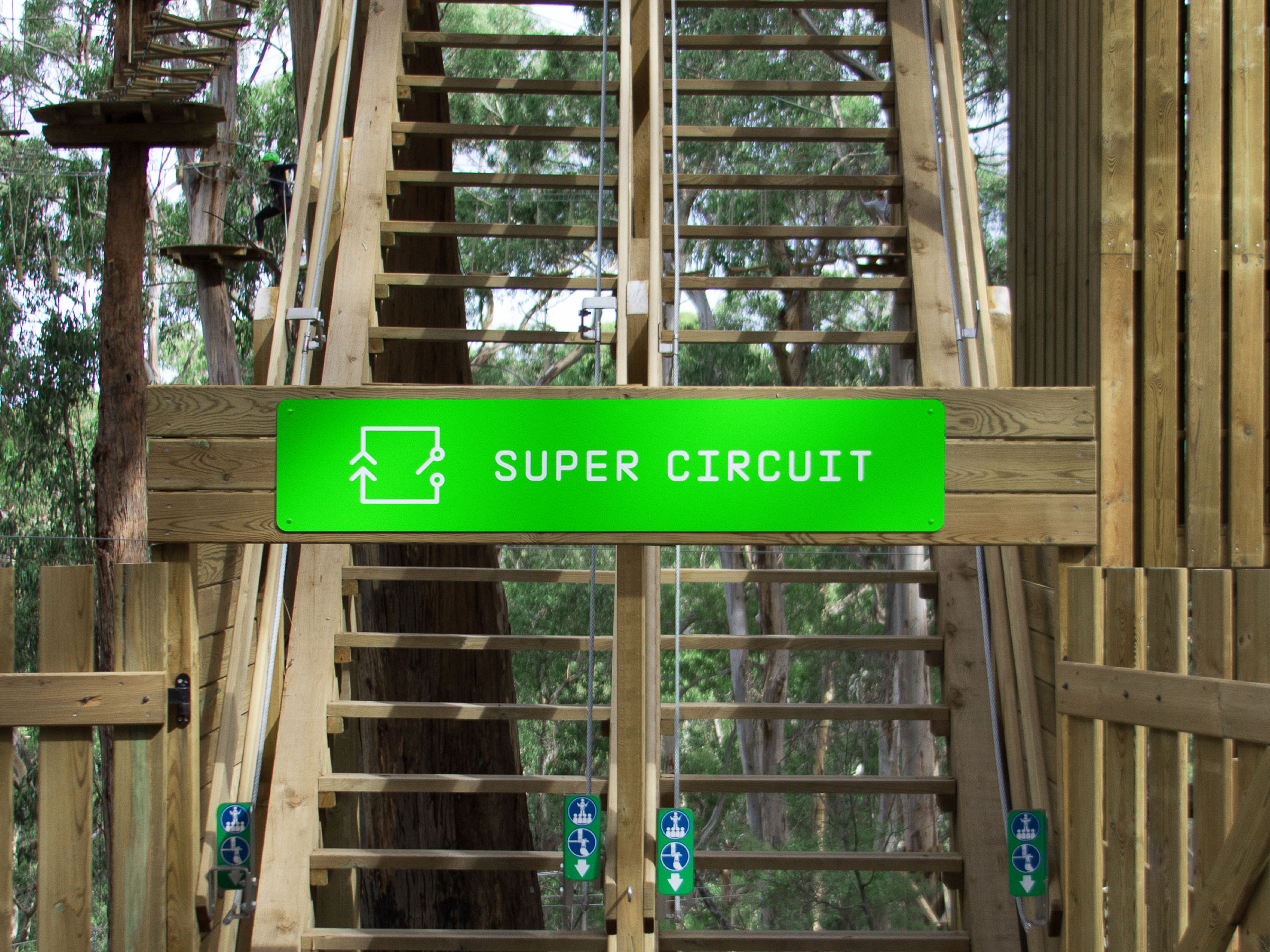 Live Wire Park Super Circuit Center Tracer Self Titled Brand Identity Signage Rh Selftitled Com Au Board Parallel